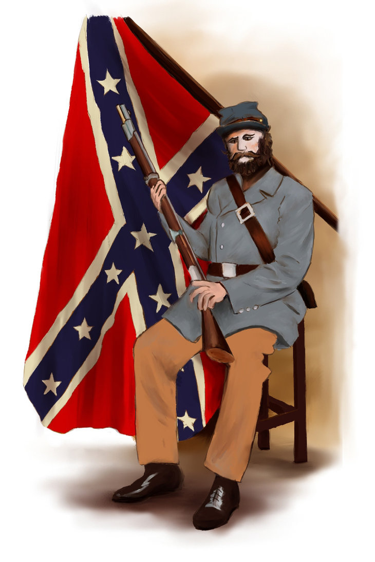 730x1094 Confederate Soldier By Erland007