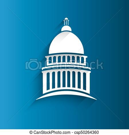 450x470 Vector Capitol Congress Building Icon Clip Art Vector
