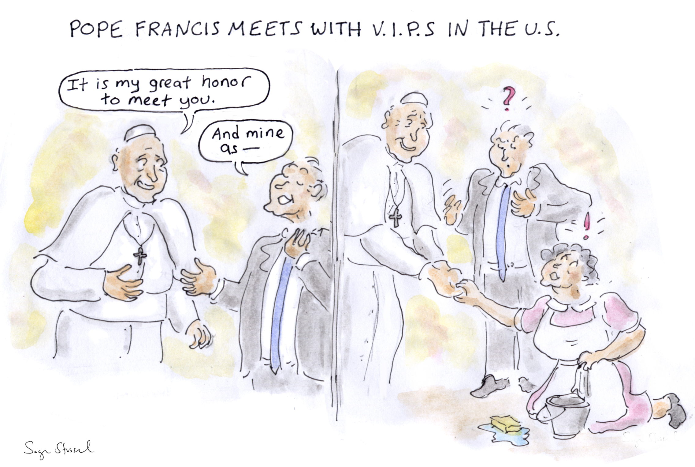 2272x1525 Drawing Board Pope Francis Meets With V.i.p.s