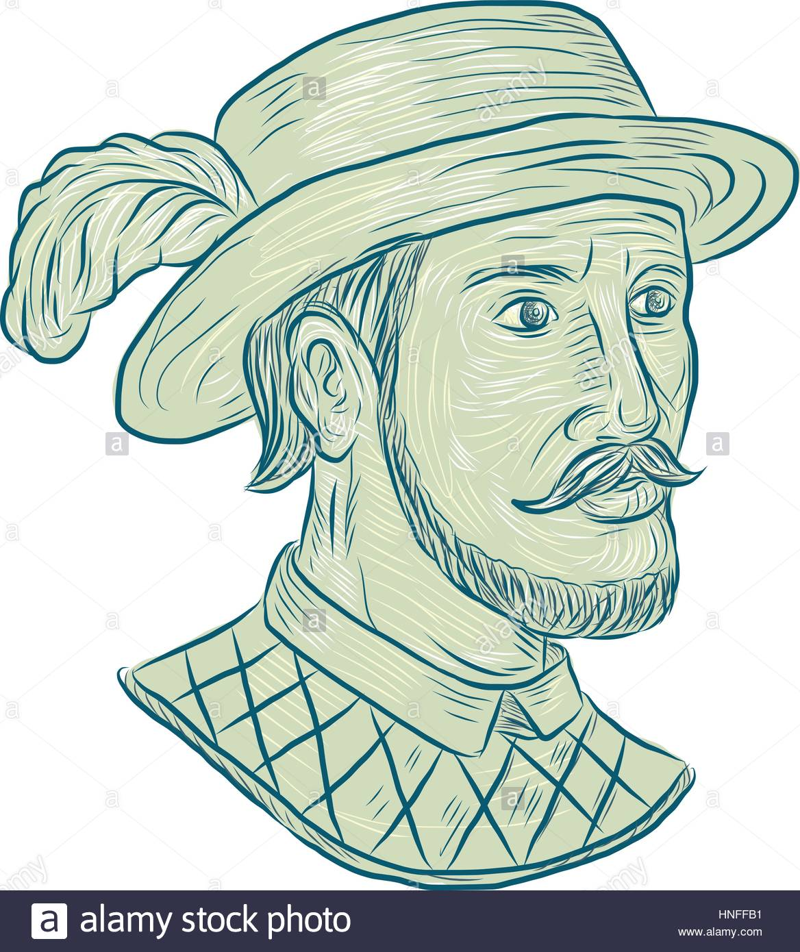 1168x1390 Drawing Sketch Style Illustration Of Juan Ponce De Leon, A Spanish