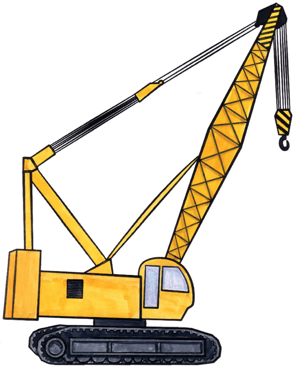 961x1200 How To Draw A Crane! How To Draw For Kids Heavy Construction