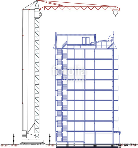 Construction Crane Drawing At Getdrawings Com Free For