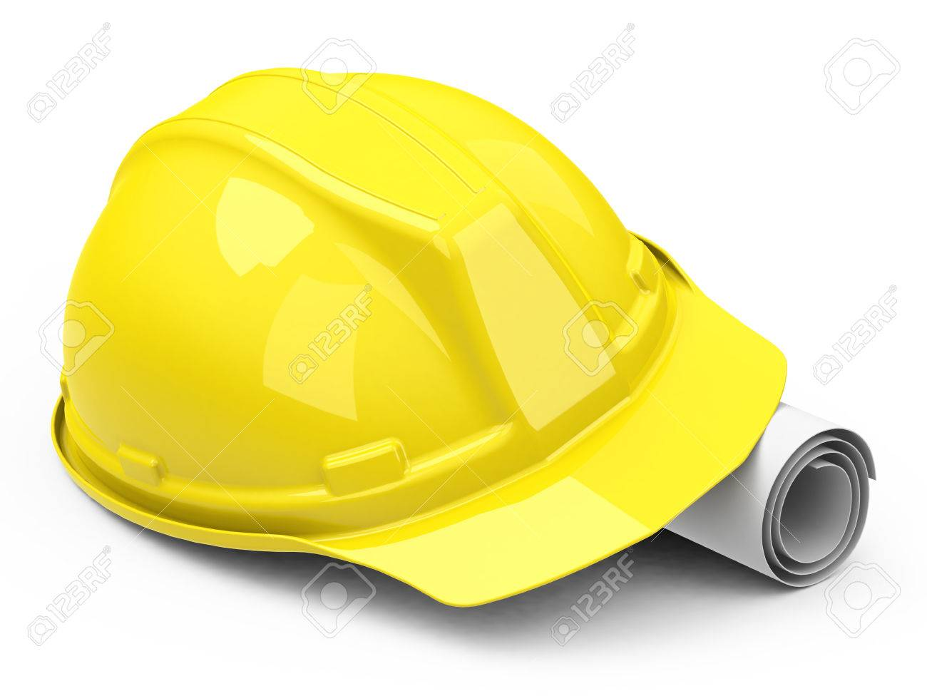 1300x976 Helmet And Construction Drawing Stock Photo, Picture And Royalty