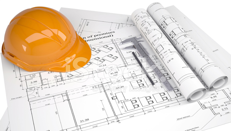 775x440 Helmet On The Construction Drawings Stock Photos
