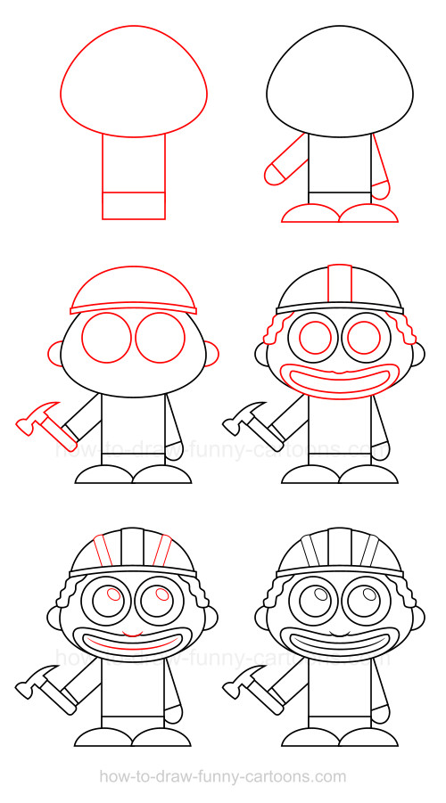 500x901 How To Draw A Construction Worker Construction Worker