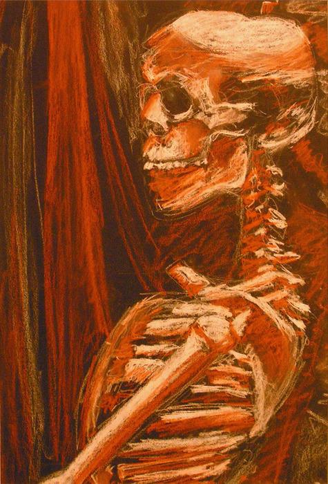 475x700 Sharland, Bry Skeleton Conte Crayon Drawing Skeleton Stuff
