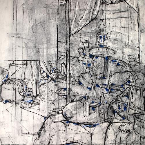 500x500 Contemporary Still Life Drawing