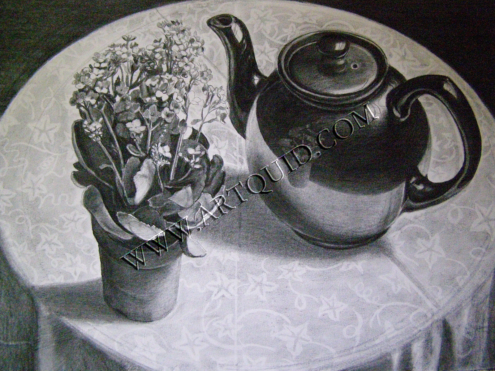 1600x1200 Drawings, Still Life With Teapot, Page 7826, Art By Independent