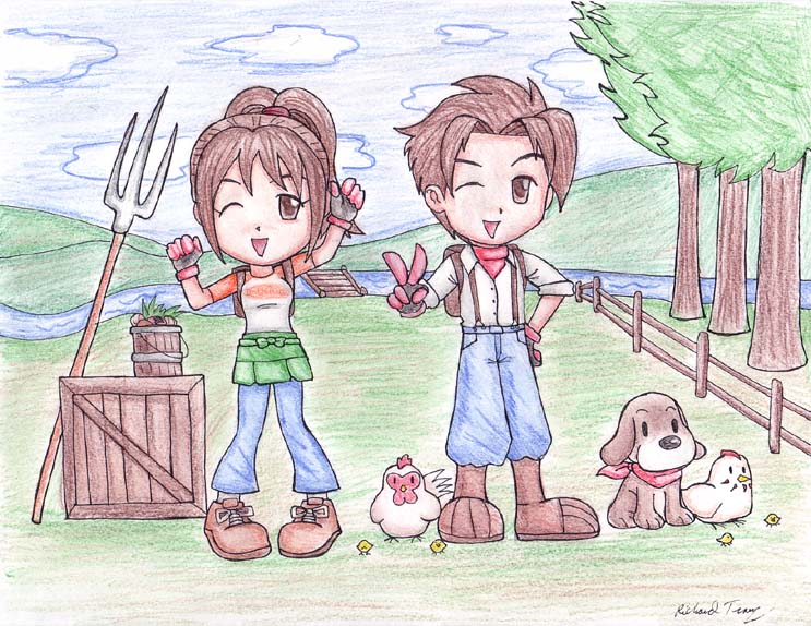 743x574 Harvest Moon Contest Drawing By Gloomknight