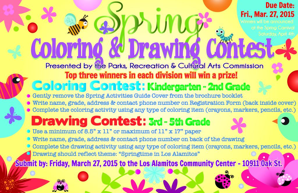 1024x663 Los Alamitos Spring Carnival Coloring And Drawing Contest City