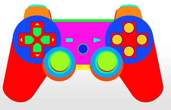 600x387 How To Draw A Playstationspired Game Controller From Scratch