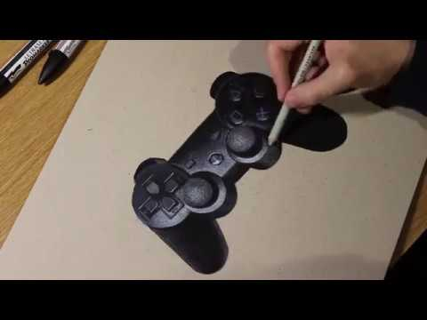 480x360 Playstation 3 Controller Drawing