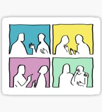 210x230 Conversation Drawing Stickers Redbubble