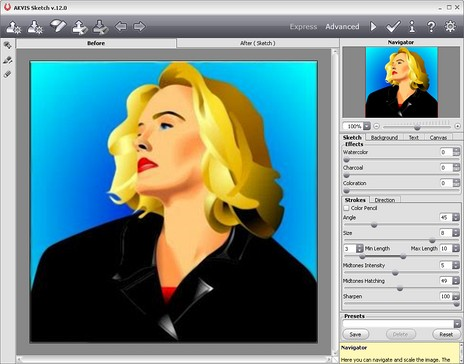 464x364 Convert Vector Drawing To Sketch Akvis Sketch And Xara Xtreme