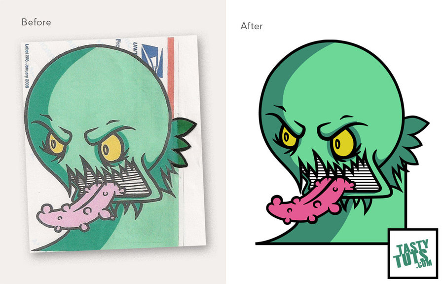 900x575 Convert A Drawing Into Vector Artwork By Tastytuts