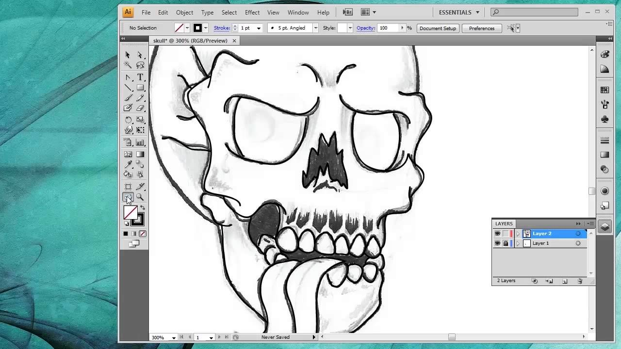 1280x720 How To Convert A Drawing Into Vector Art Inside Adobe Illustrator