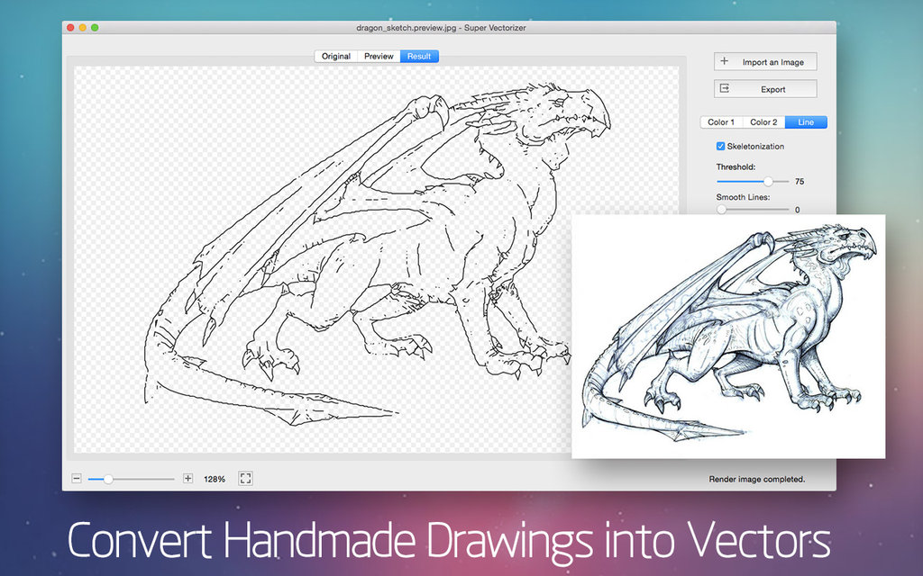 1024x640 How To Convert Handmade Drawing To Vector On Mac By Macpainttool