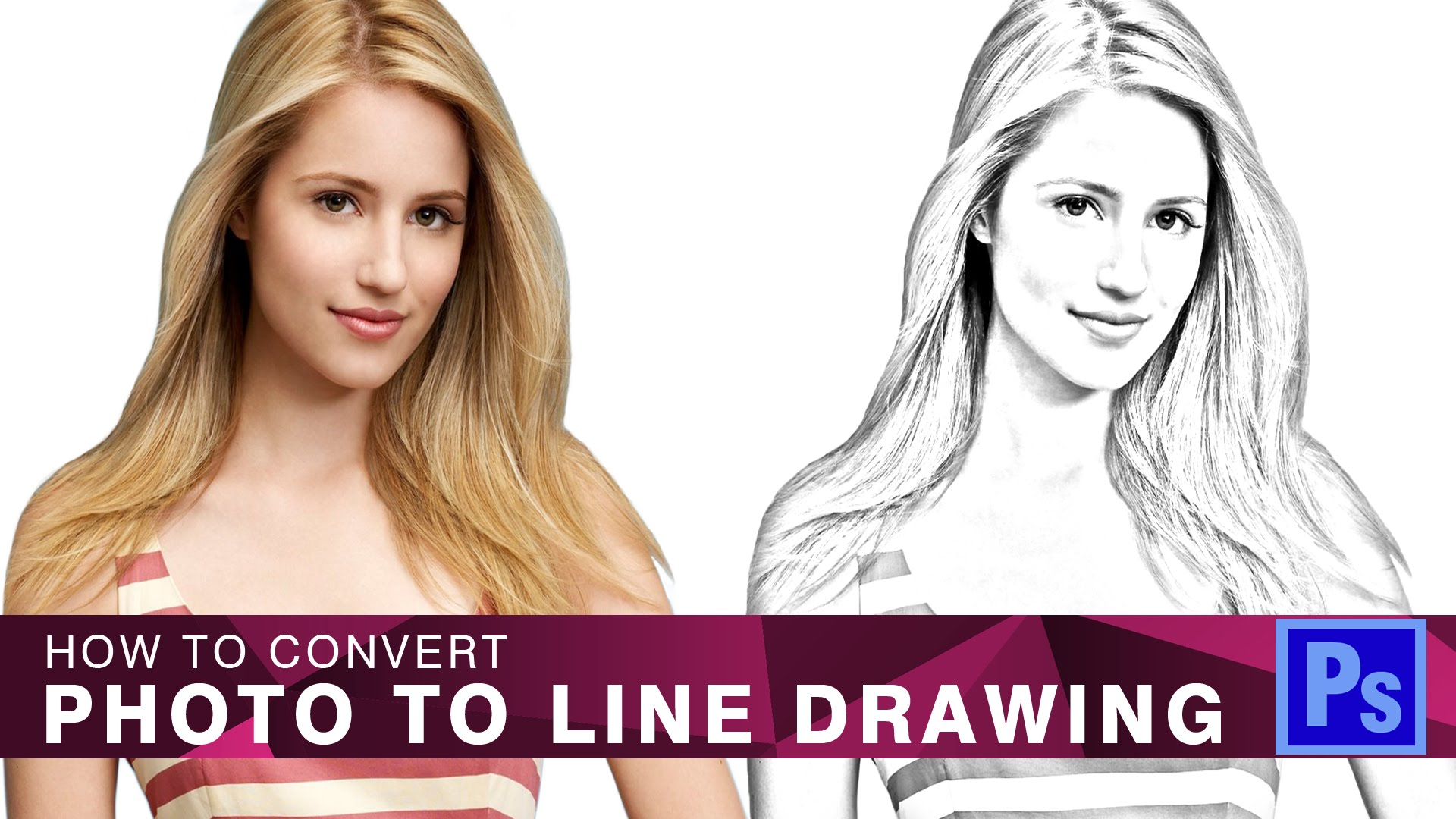 1920x1080 New} How To Convert Photo To Line Drawing In Photoshop
