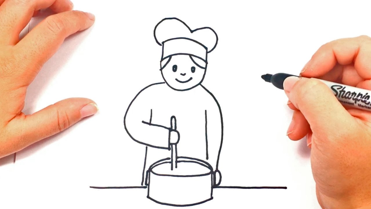 1280x720 How To Draw A Cook Cook Easy Draw Tutorial