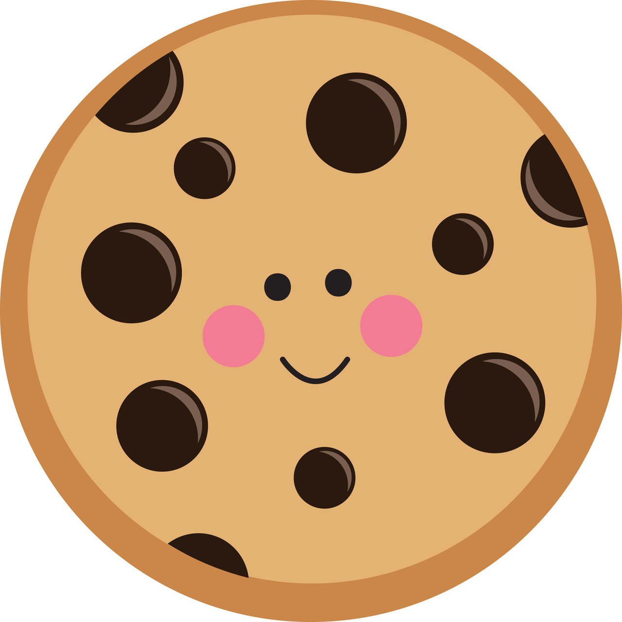 1280x1280 Chocolate Chip Cookie Drawing Cute Chocolate Chip Cookie (40% Off