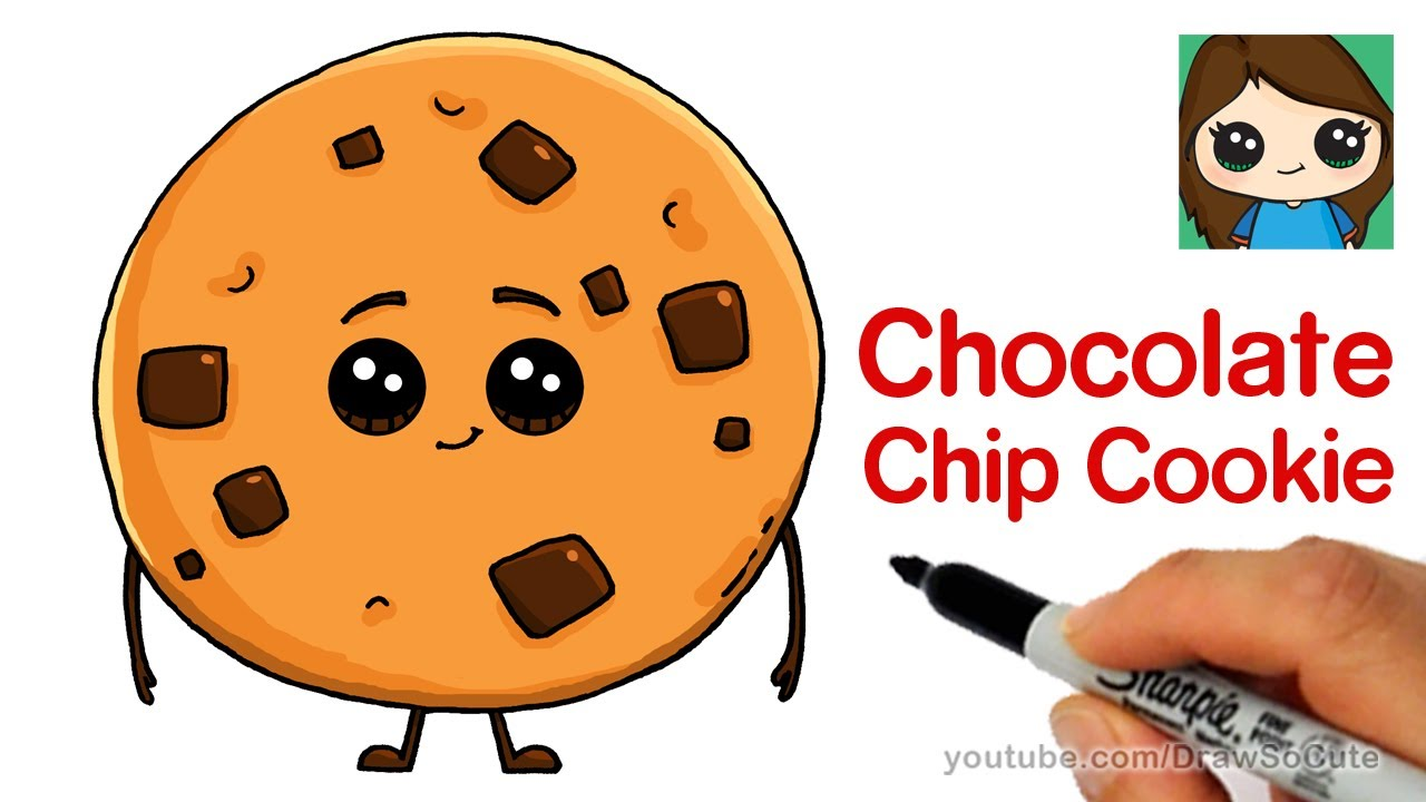 1280x720 How To Draw A Chocolate Chip Cookie The Emoji Movie