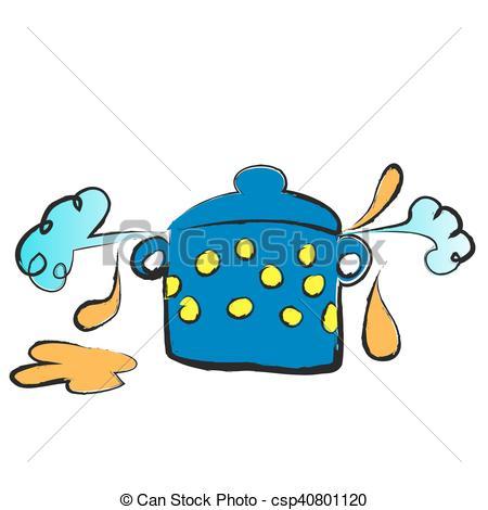 450x470 Cartoon Cooking Pot, Vector Illustration Vector Illustration