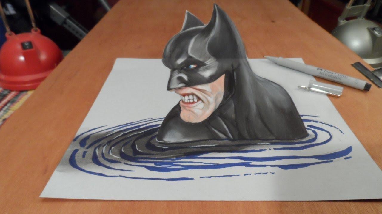 1280x720 Art Drawing Batman In 3d