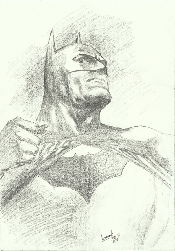600x859 Batman Drawing