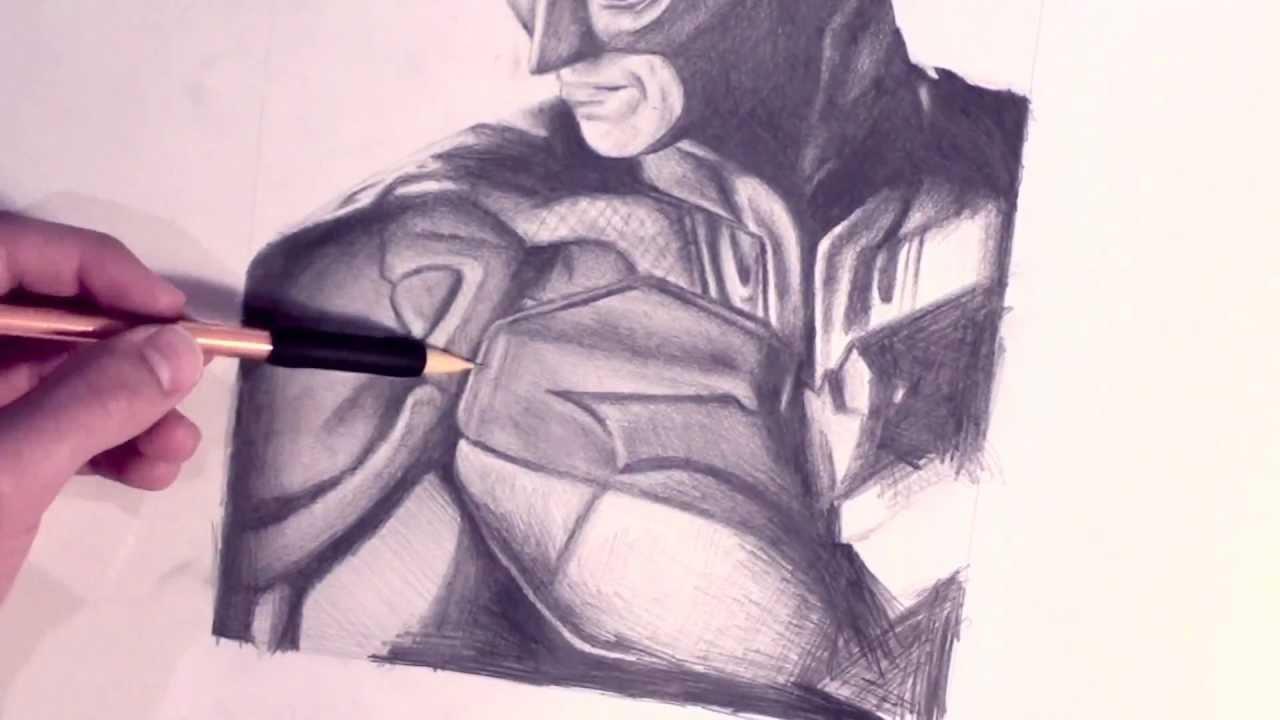 1280x720 Batman Speed Drawing (The Dark Knight)