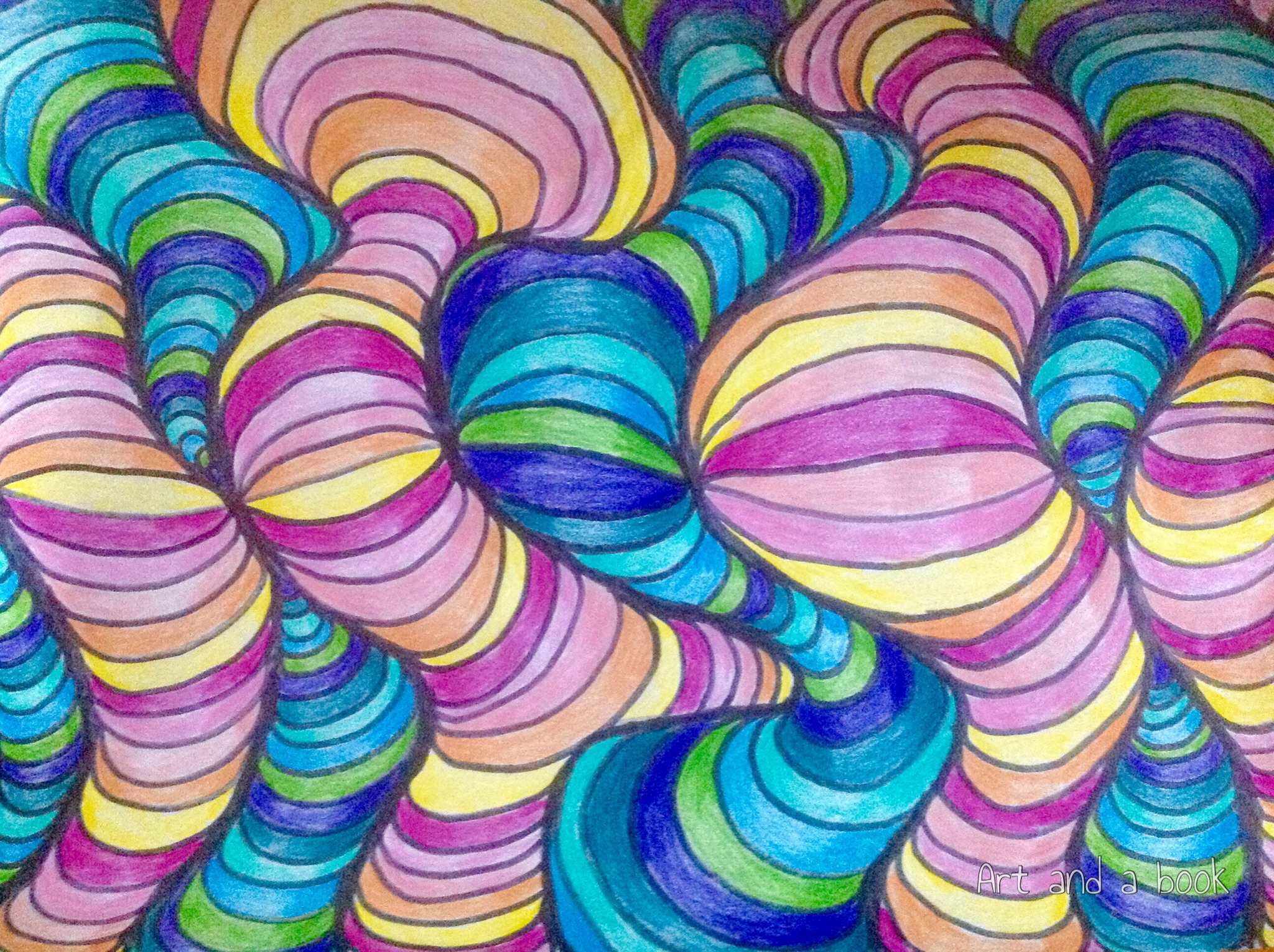 Cool Colors Drawing at GetDrawings.com | Free for personal use Cool ...