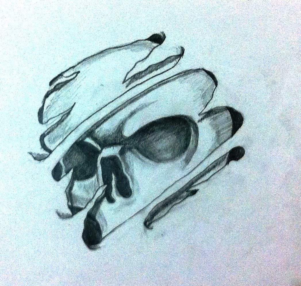 1047x995 how to draw cool 3d skull tattoo desing