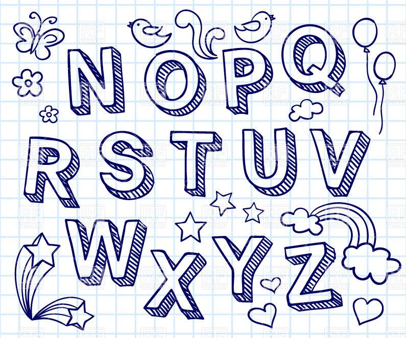 795x662 Hand Drawn Font