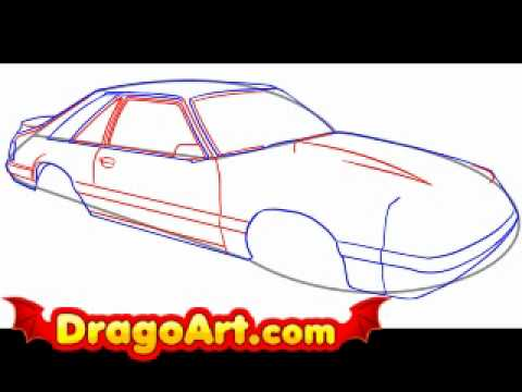 480x360 How To Draw A Cool Car, Step By Step