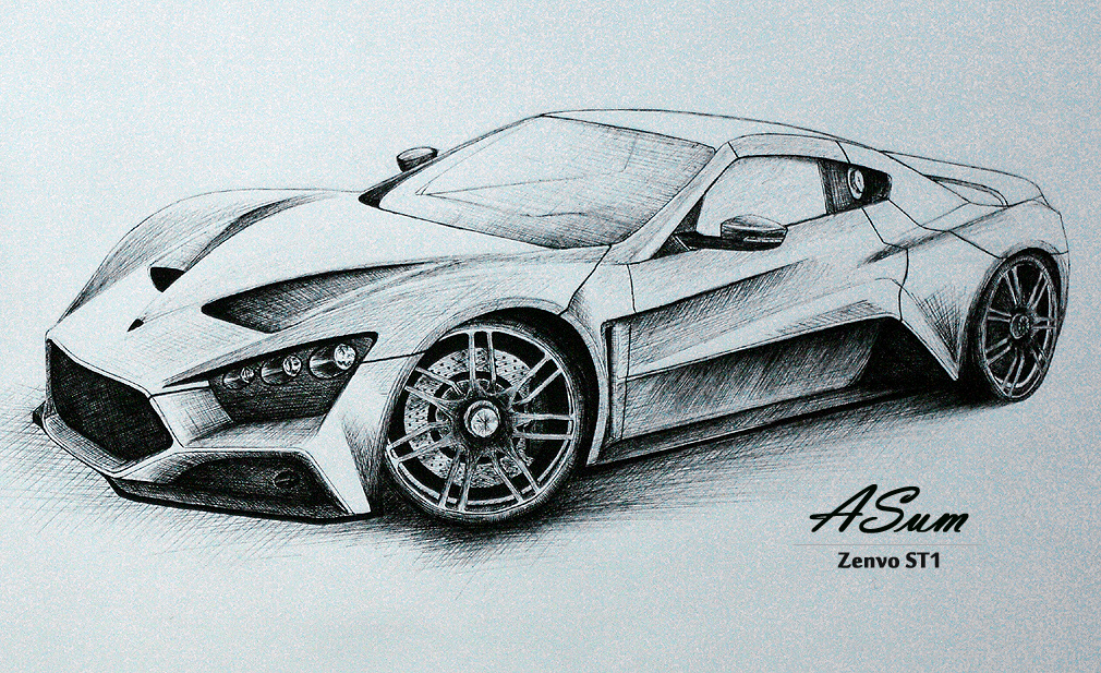 1010x617 pictures car drawing with pencil
