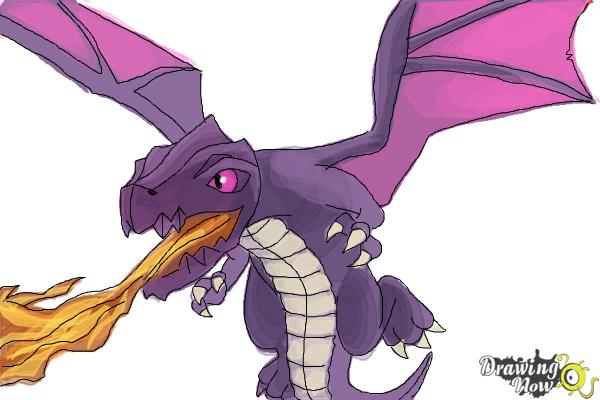 600x400 How To Draw Clash Of Clans Dragon