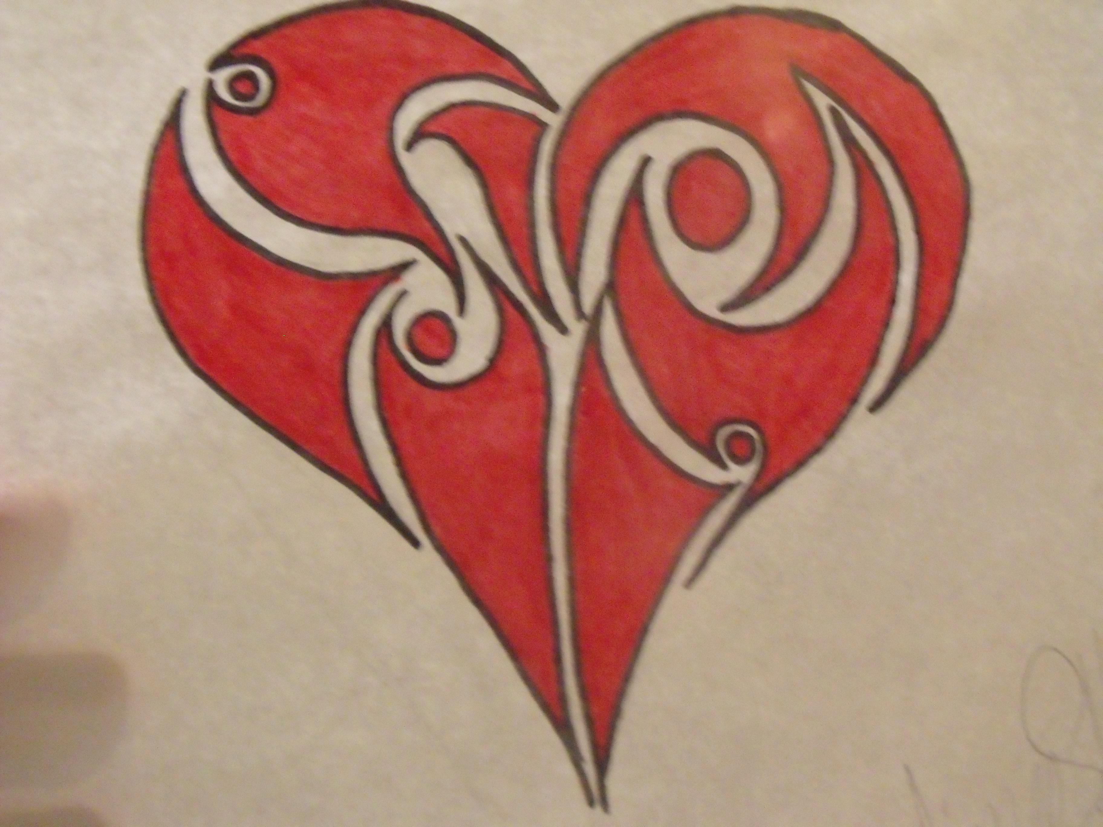 3648x2736 Cool Drawings Of Hearts Cool Drawings Of Hearts Free Download Cool