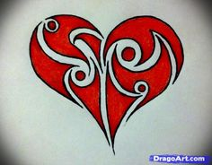 236x184 Hand Drawn Cool hearts how to draw a tribal heart step 6