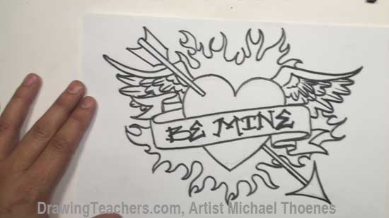 550x309 Heart Drawing