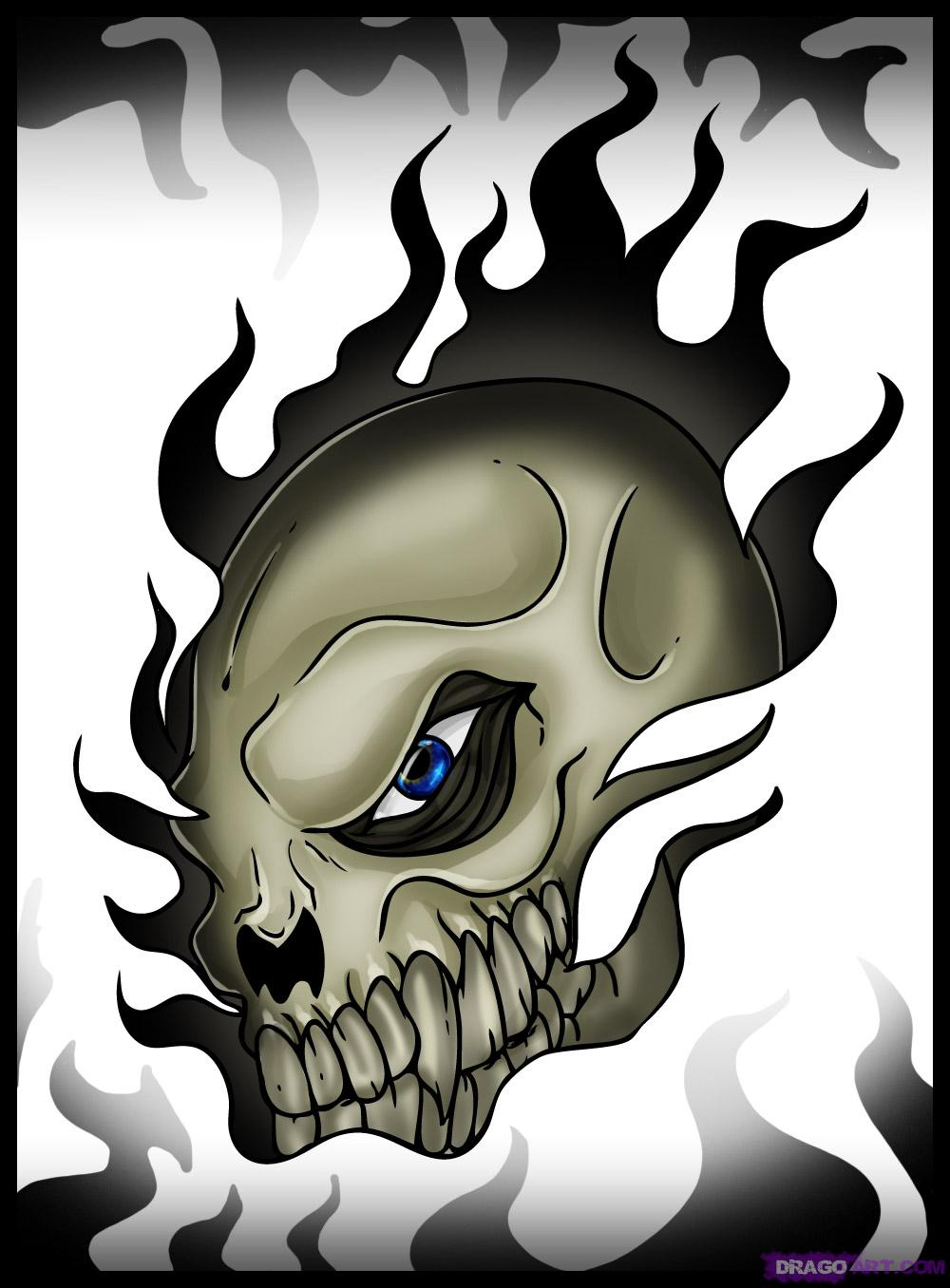 1000x1356 Cool skull drawings Cool Skull, Step By Step, Skulls, Pop