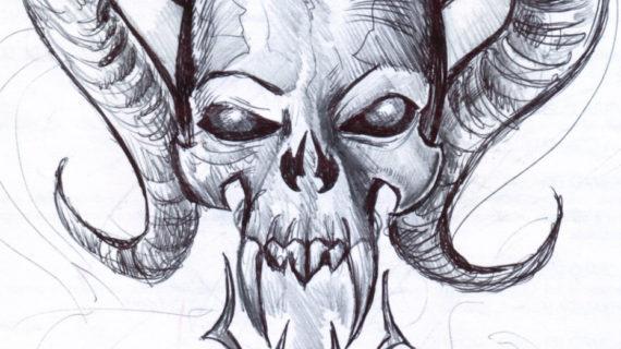 570x320 Cool Drawing Of Skulls Cool Drawing Of Skulls
