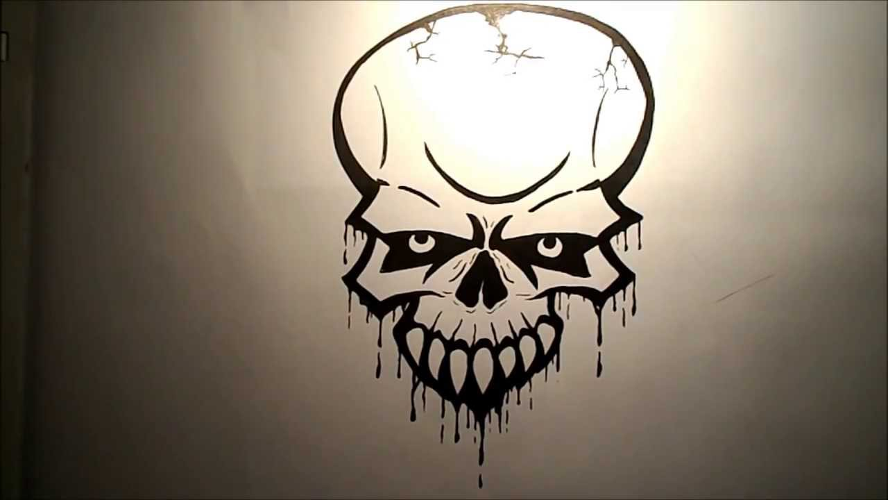 1280x720 How To Draw A Skull (Easy)