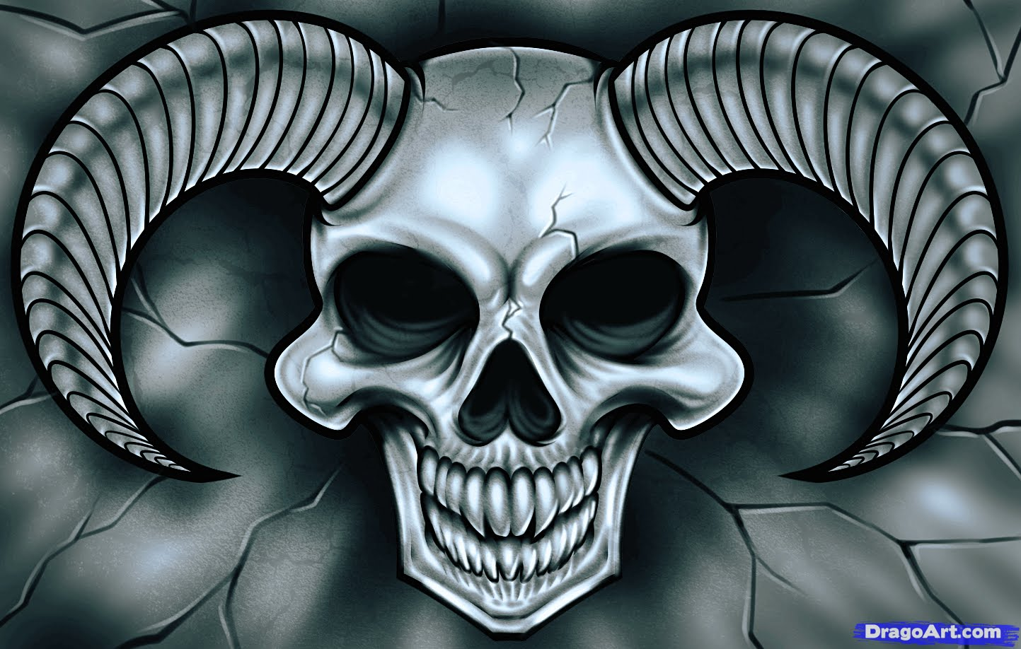 1443x918 How To Draw Demon Skull For Beginners Impress Your Friends