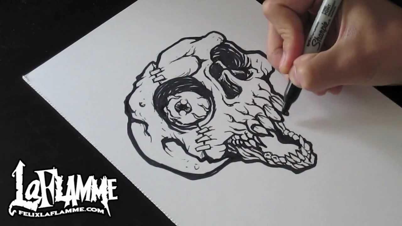 1280x720 Skull