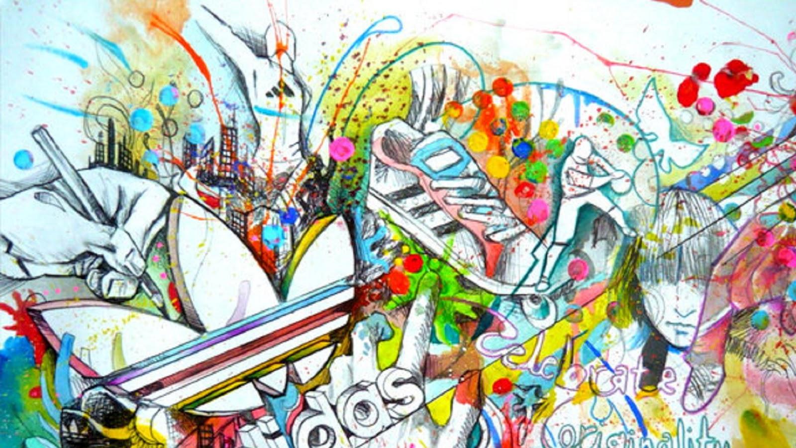 1600x900 Cool Color Drawing Wallpaper Wallpaper Wallpaperlepi