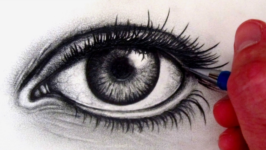 1024x576 Drawings Of Eyes How To Draw A Realistic Eye Youtube