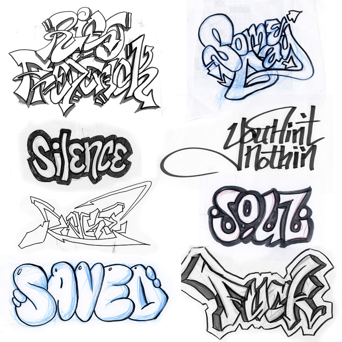 cool graffiti drawings