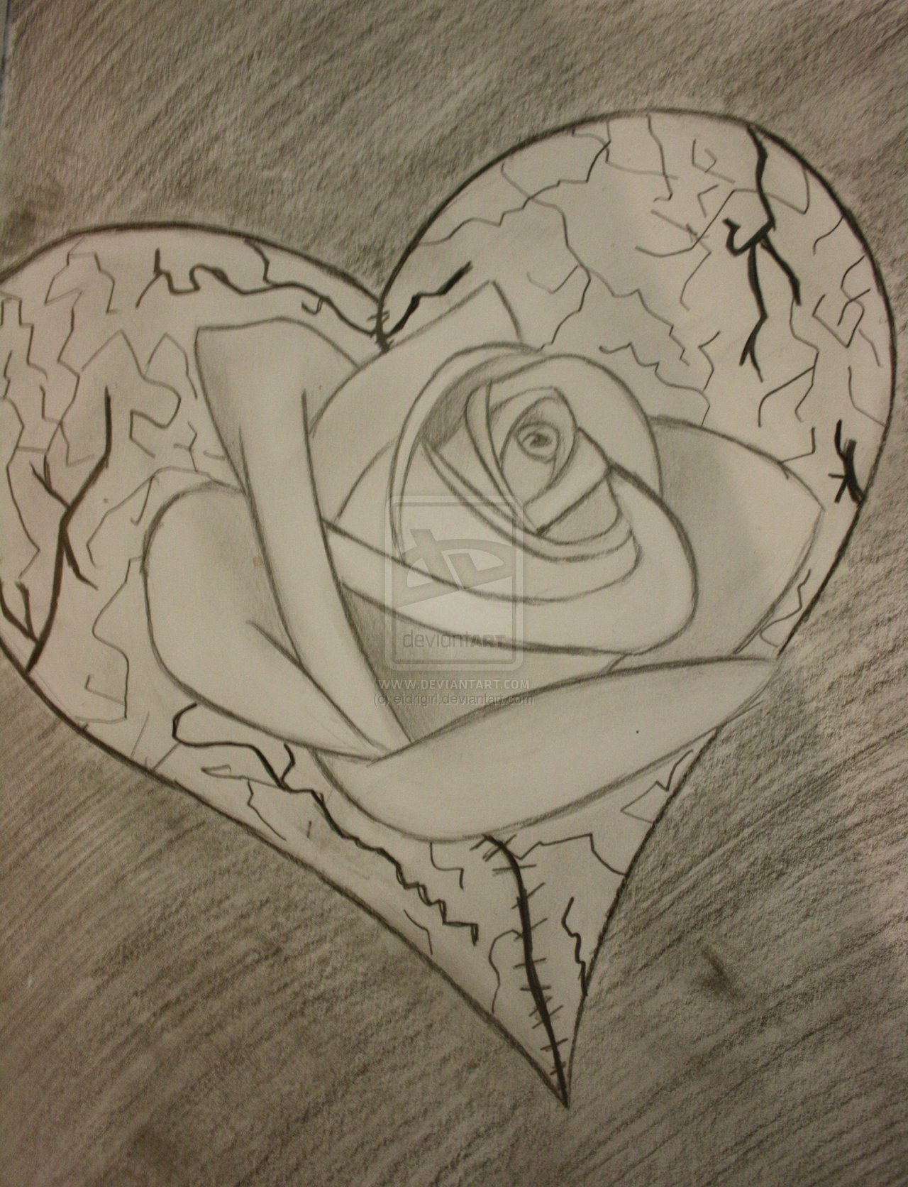 1280x1672 Cool Sketches Of Broken Hearts Drawing Of Heart Brack Rose