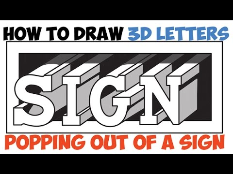 480x360 How To Draw Cool Letters For Beginners 3D Easy Step By