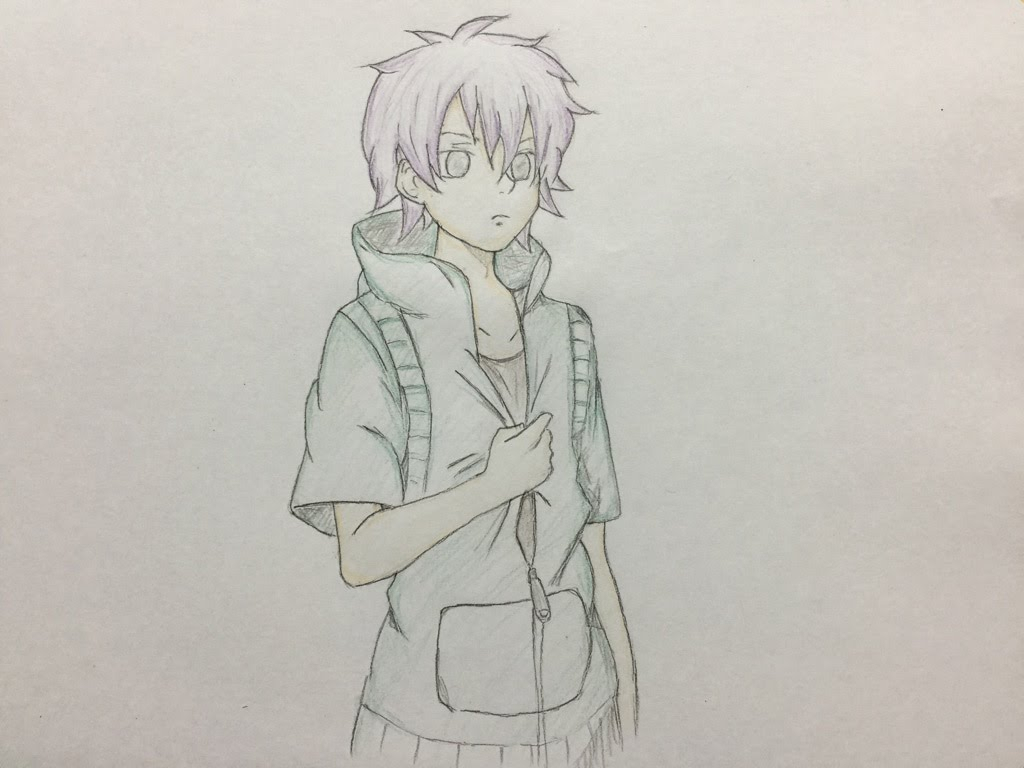 1024x768 Cool Boy Drawing