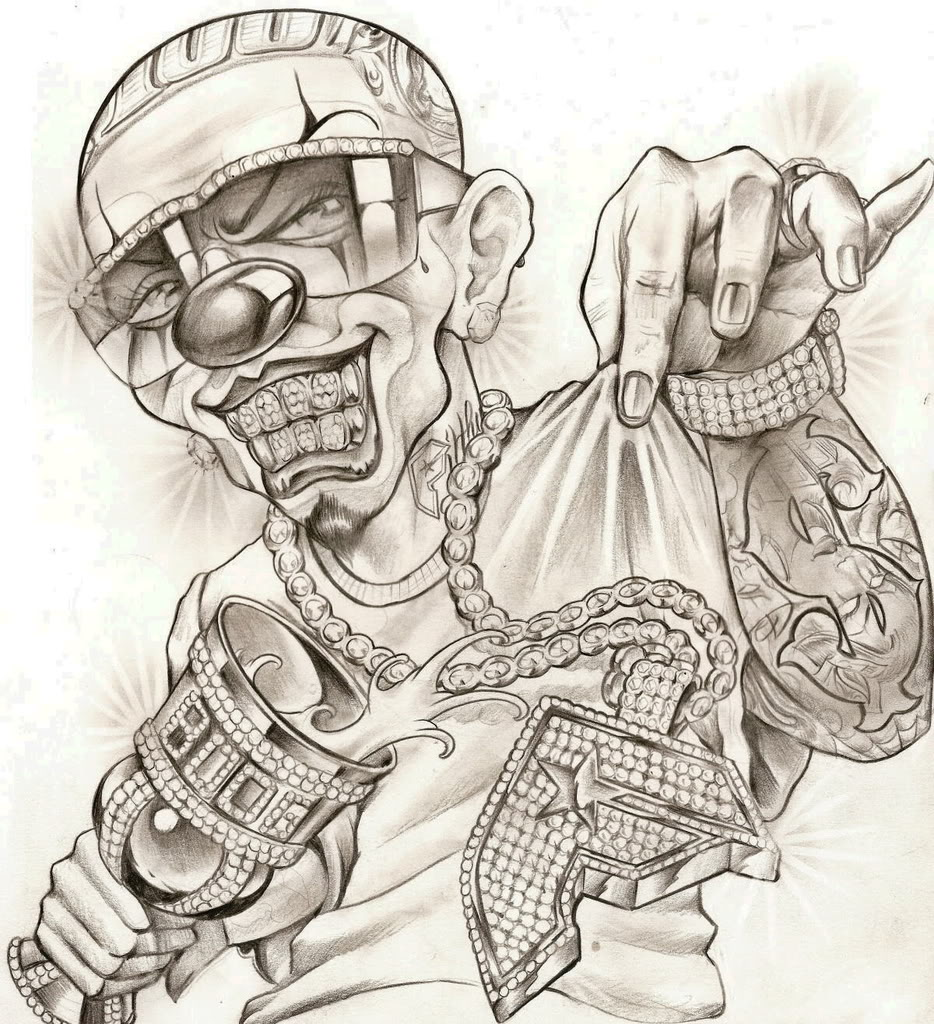 934x1024 Cool Mexican Gangster Drawings